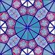 AC-3 Geometrik Kırmızı Mavi Desen Cini Karo
