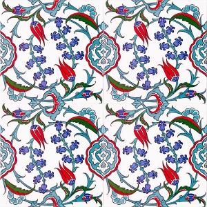 AC-5 Iznik Cicek Desenli Cini Karo, Kütahya çinisi, iznik çini, Cami çinileri, Türk hamamı, arabic mosque dekorasyon, fiyatları, örnekleri
