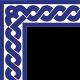 Kobalt Zincir Çini Bordür