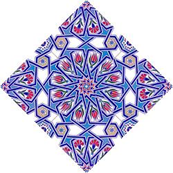 AC-17 Geometrik Desen Cini Seramik Karo,