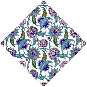 20x20 AC-1 Hancer Yaprak Desenli Cini Karo, Kütahya çinisi, Cami çinileri, Türk hamamı, arabic mosque, Banyo dekorasyon, fiyatları, örnekler
