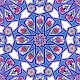 20x20 AC-17 Geometrik Desen Cini Seramik Karo