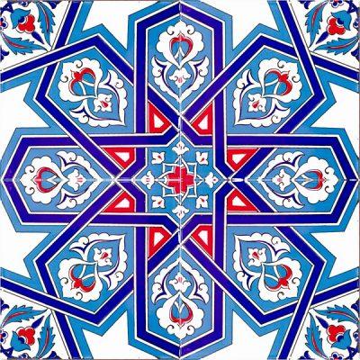 Selcuk Yıldızı Geometrik Cini Karo
