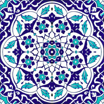 AC-92 Osmanlı Mavi Beyaz Çini Karo