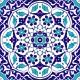 20x20 AC-92 Osmanlı Mavi Beyaz Cini Karo