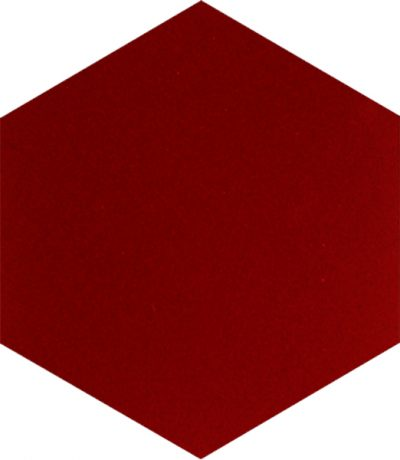 hexagon red tile ceramic porcelain