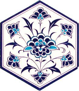 wall and floor ceramic decoration hexagon tiles