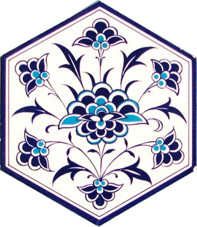 wall and floor ceramic decoration hexagon tiles