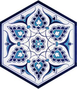 iznik rumi models hexagon tiles palace decoratşon mosque