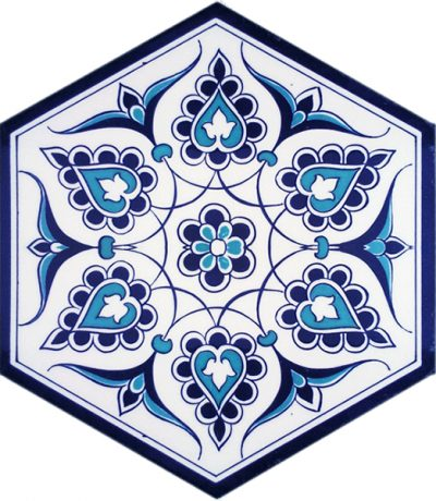 iznik rumi models hexagon tiles palace decoratşon mosque