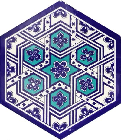 ottoman hexagon tiles sample mosaic
