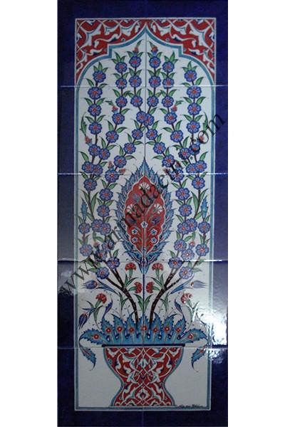 Banyo çini pano motifleri dekorasyonları