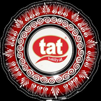 30 cm. Kırmızı Kabartma Çini Tabak