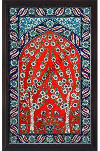 Osmanlı çinileri duvar dekorasyon çalışmaları