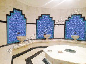 AC-12 Selcuk Yıldız Desenli Cini Karo, Kütahya çinisi, iznik çini, Cami çinileri, Türk hamamı, maroc, arabic mosque dekorasyon, tiles, fiyatları, örnekleri