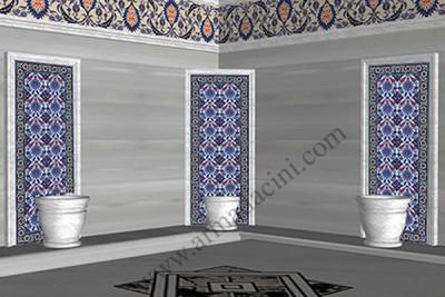 AC-4 Iznik Lale Desen Cini Karo, Kütahya çinisi, iznik çini, Cami çinileri, Türk hamamı, arabic mosque, Banyo dekorasyon, fiyatları, örnekleri