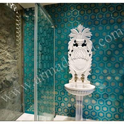 Banyo (Altınlı AL-11 Altıgen Çini Karo)