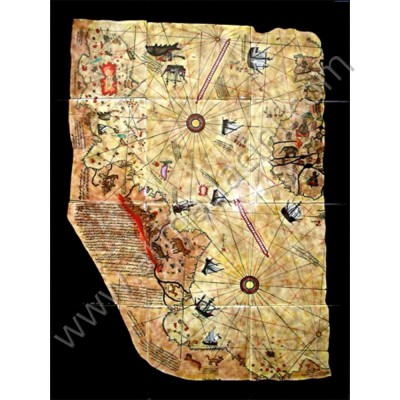 60x80 Piri Reis Dünya Haritası