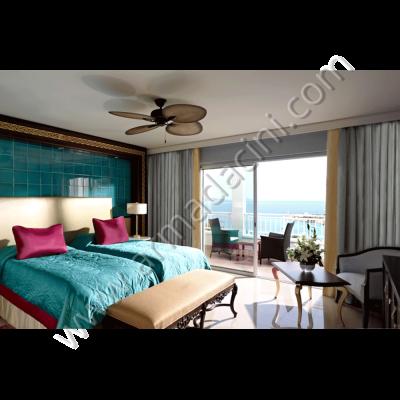 Otel Odası Yatak Başı Çini Uygulaması