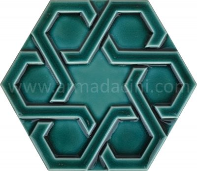 iznik mosque tiles ottoman hexagon porcelain ceramic