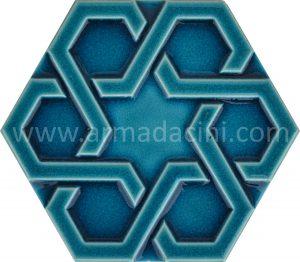 ottoman turkis tile hexagon porcelain ceramic tiles mosaic islamic art