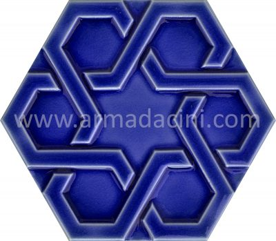 Hexagon ceramic tiles rölyefli altıgen çini karo