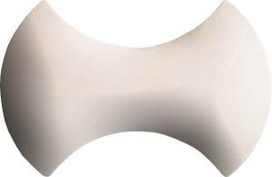 Beyaz papyon modern seramik çini şekilli bordür