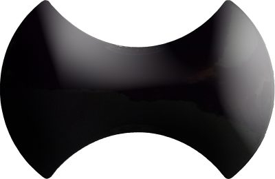 Siyah papyon modern seramik çini