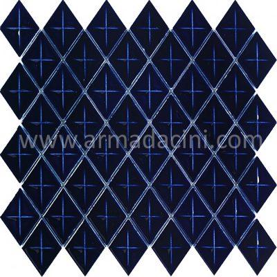 Baklava fileli mozaik kobalt porselen seramik kütahya çinileri