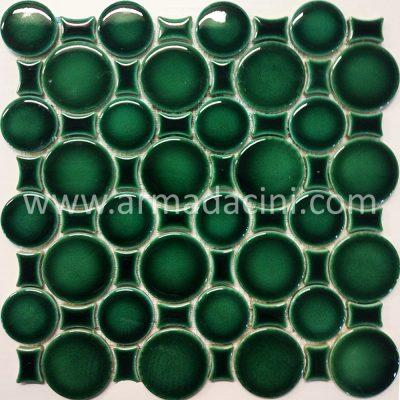 Havuz spa türk hamamı yeşil porselen fileli mozaik çini seramik dekorasyon modelleri