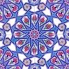 AC-17 Geometrik Desen Cini Seramik Karo, Kütahya çinisi, iznik, Cami çinileri, Türk hamamı, maroc, arabic mosque decoration tiles, fiyatları, örnekleri