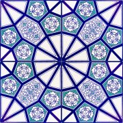 AC-3 A Geometrik Mavi Desen Cini Karo, Kütahya çinisi, iznik çini, Cami çinileri, Türk hamamı, arabic mosque, Banyo dekorasyon, fiyatları, örnekleri