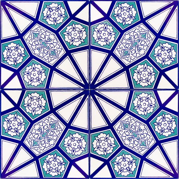 20 Ac 3 A Geometric Blue Pattern Ceramic Tile