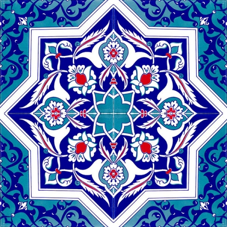 Kütahya china, iznik china, Mosque tiles, Patterned ceramic, Porcelain tile, Turkish bath, maroc, arabic tiles, AC-49 Star Patterned Cini Karo prices, samples