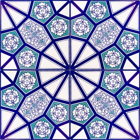 AC-3 A Geometrik Mavi Desen Cini Karo