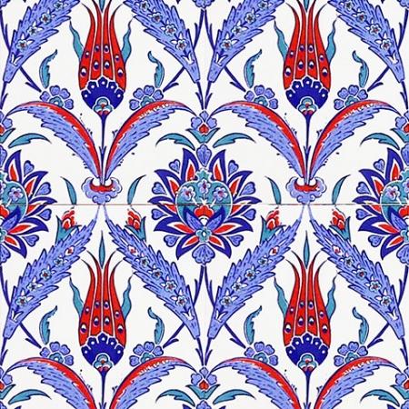 AC-1002 Kırmızı Laleli Çini Seramik Karo, Kütahya çinisi, Cami çinileri, Türk hamamı, arabic mosque, Banyo, otel dekorasyon, fiyatları, decoration örnekleri