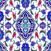 AC-1044 Osmanlı Desen Cini Seramik Karo, Kütahya çinisi, Cami çinileri, Türk hamamı, arabic mosque, Banyo, otel dekorasyon, fiyatları, örnekleri