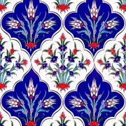 AC-1045 Iznik Laleli Cini Karo, Kütahya çinisi, Cami çinileri, Türk hamamı, arabic mosque, Banyo dekorasyon, fiyatları, örnekler
