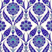 AC-308 Mavi Beyaz Lale desen Kutahya Çini Karo, çinisi, Cami çinileri, Türk hamamı, arabic mosque, Banyo, otel dekorasyon, fiyatları, decoration örnekleri
