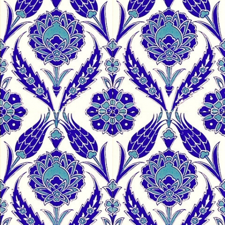 AC-308 Blue White Tulip pattern Kutahya Tile Karo, tiles, Mosque tiles, Turkish bath, arabic mosque, Bathroom, hotel decoration, prices, decoration samples