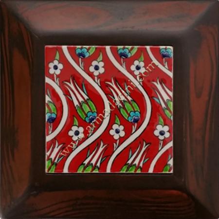 10x10 iznik Ceramic Red Tulip Patterned Hand Decor 09 Ceramic Panel iznik ceramics handmade ceramic tile turkish ceramic art patterns ottoman motifs turkish bath ceramic panel bathroom kitchen ceramics ceramic hotel home mosque metro decoration mosque masjid hand made interior ceramic tiles decoration turkish bath bathroom prices