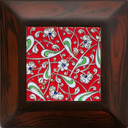 10x10 iznik Ceramic Red Rumi Patterned Hand Decoration 13 Ceramic Panel iznik ceramics handmade ceramic tile Turkish ceramic art patterns ottoman motifs turkish bath ceramic panel bathroom kitchen ceramics ceramic hotel home mosque metro decoration mosque masjid hand made interior ceramic tiles decoration turkish bath bathroom prices