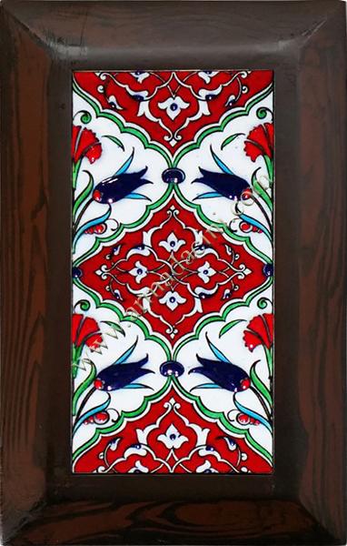 10x20 iznik Çini Kırmızı Geometrik Desenli El Dekoru 109 Cini Pano iznik çinileri el yapımı çini karo türk çini sanatı desenleri osmanlı motifleri türk hamamı çini pano banyo mutfak çiniler seramik otel ev cami metro dekorasyon mosque masjid hand made interior ceramic tiles decoration turkısh bath bathroom fiyatları