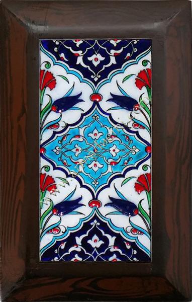 10x20 Kutahya Çini Geometrik Desenli El Dekoru 115 Cini Pano iznik çinileri el yapımı çini karo türk çini sanatı desenleri osmanlı motifleri türk hamamı çini pano banyo mutfak çiniler seramik otel ev cami metro dekorasyon mosque masjid hand made interior ceramic tiles decoration turkısh bath bathroom fiyatları