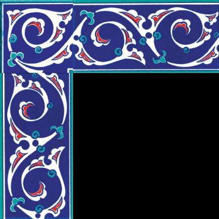 Rumi Motifli Cini Bordür