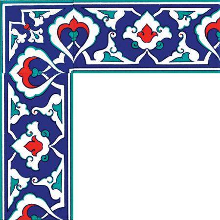 Kütahya and iznik tile, Mosque tiles, Patterned ceramic tiles, Islamic art, maroc, arabic geometric tiles, İznik Bordur with Cini Pattern
