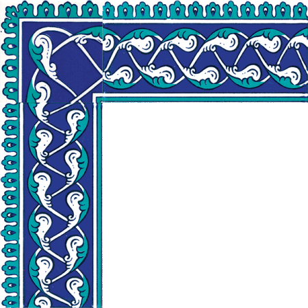 Kütahya and iznik tile, Mosque tiles, Patterned ceramic tile, islamic art, maroc, arabic geometric tiles, Cini Pattern Rumi Bordur