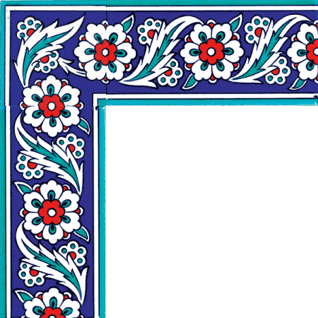 Kütahya tiles, iznik tiles, Mosque tiles, Patterned ceramic tiles, Turkish baths, maroc, arabic geometric tiles, Cicekli Iznik Cini Bordur prices examples
