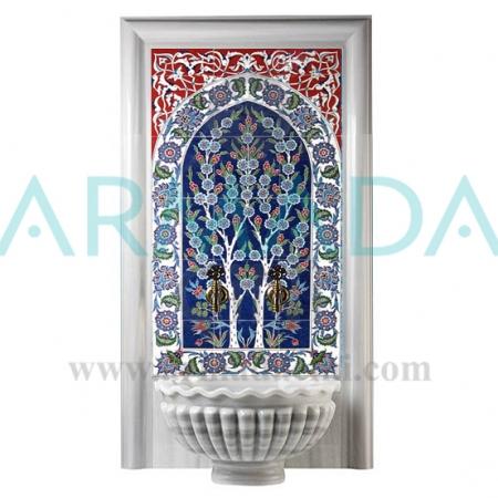 60x120 Hayat Ağacı çini Desenli Türk Hamamı