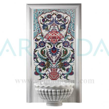60x120 Vazolu El dekoru çini Türk Hamamı